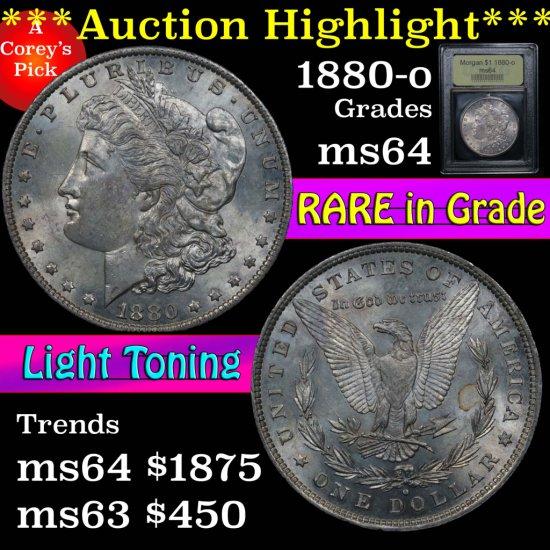 ***Auction Highlight*** 1880-o Morgan Dollar $1 Graded Choice Unc by USCG (fc)