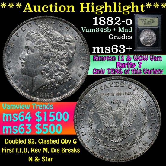 ***Auction Highlight*** 1882-o Morgan Dollar $1 Graded Select+ Unc by USCG (fc)