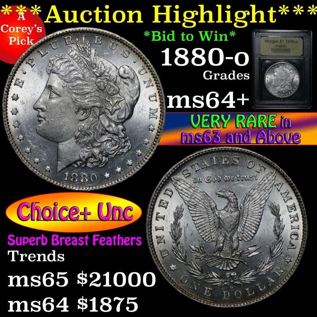 ***Auction Highlight*** 1880-o Morgan Dollar $1 Graded Choice+ Unc by USCG (fc)