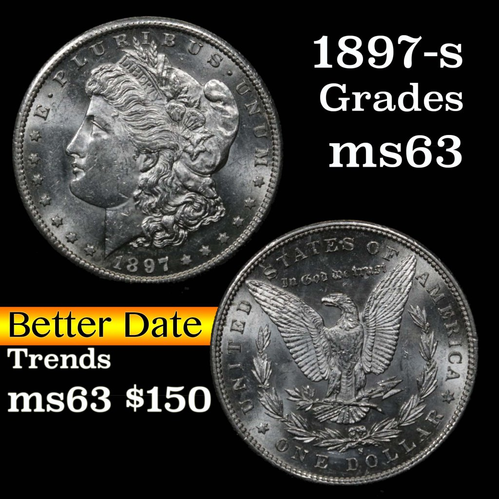 1897-s Morgan Dollar $1 Grades Select Unc