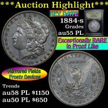 1884-s Morgan Dollar $1 Graded Select AU PL USCG
