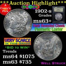 1902-s Morgan Dollar $1 Graded Select+ Unc by USCG