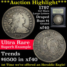 1797 9x7 Stars Large Letters Draped Bust Dollar