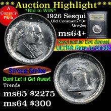 1926 Sesqui Old Commem Half Dollar 50c Choice+