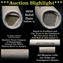 ***Auction Highlight*** 1859 solid date