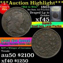 1803 Sm date Lg Fraction Draped Bust Large Cent 1c