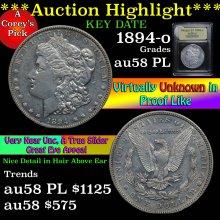 1894-o Morgan Dollar $1 Graded Choice AU/BU Slider