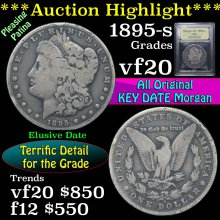 1895-s Morgan Dollar $1 Graded vf, very fine USCG