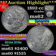 1892-cc Morgan Dollar $1 Graded Select Unc by USCG