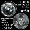 1964 Silver Proof Kennedy Half Dollar 50c Grades GEM++ Proof