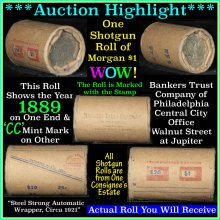 Morgan dollar roll ends 1889