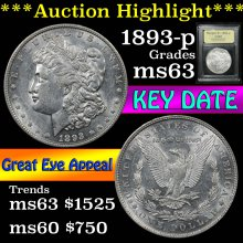 1893-p Morgan Dollar $1 Graded Select Unc