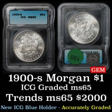 1900-s Morgan Dollar $1 Graded ms65 By ICG
