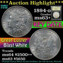 1894-o Morgan Dollar $1 Graded Select+ Unc