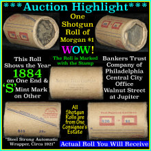 Morgan dollar roll ends 1884