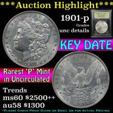1901-p Morgan Dollar $1 Graded Unc Details