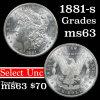 1881-s Morgan Dollar $1 Grades Select Unc