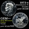 1972-s Proof Eisenhower $1 Grades GEM++ Proof Deep Cameo