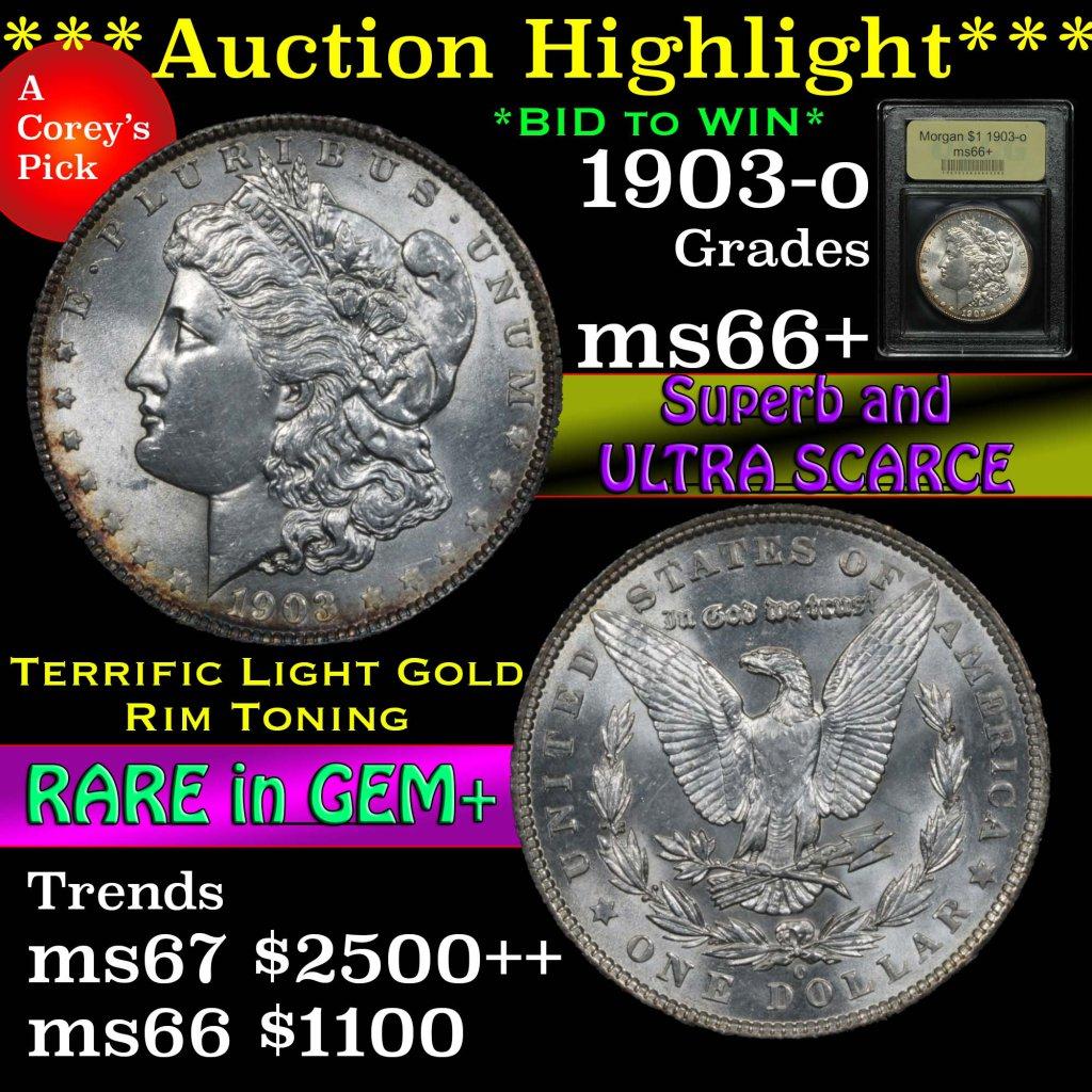 ***Auction Highlight*** 1903-o Morgan Dollar $1 Graded GEM++ Unc by USCG (fc)