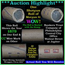 Auction Highlight* Morgan dollar roll ends 1879 &