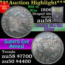 1806 Draped Bust Half Dollar 50c Graded AU/BU