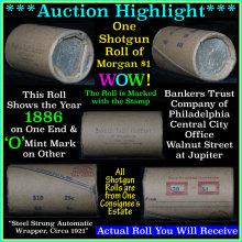 Morgan dollar roll ends 1886 & 'o'