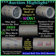 *Auction Highlight Morgan dollar roll ends 1892 &