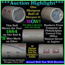 Auction Highlight* Morgan dollar roll ends 1884 &