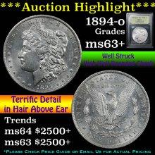 1894-o Morgan Dollar $1 Graded Select+ Unc by USCG
