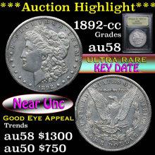 1892-cc Morgan Dollar $1 Graded Choice AU/BU