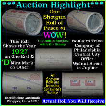 **Auction Highlight Peace dollar roll ends 1927 &