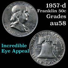 1957-d Franklin Half Dollar 50c Grades Choice