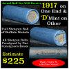 Full roll of Buffalo Nickels, 1927 & 'd' Mint Ends Grades Avg Circ (fc)