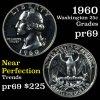 1960 Proof Washington Quarter 25c Grades GEM++ Proof (fc)