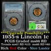 PCGS 1955-s Lincoln Cent 1c Graded ms66RD by PCGS