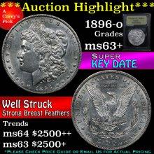 1896-o Morgan Dollar $1 Graded Select+ Unc By USCG