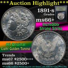 1891-s Morgan Dollar $1 Graded GEM++ Unc By USCG