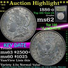 ***Auction Highlight*** 1886-o Top 100 Vam 1A