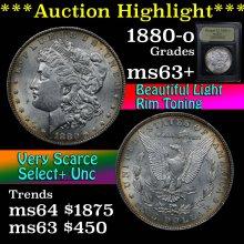 1880-o Morgan Dollar $1 Graded Select+ Unc By USCG