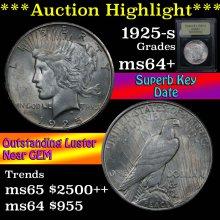 1925-s Peace Dollar $1 Graded Choice+ Unc By USCG