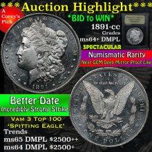 1891-cc Morgan Dollar $1 Graded Choice Unc+ DMPL