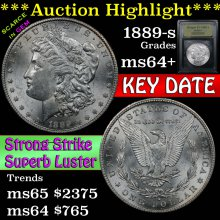 1889-s Morgan Dollar $1 Graded Choice+ Unc By USCG