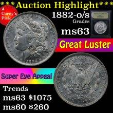 1882-o/s Morgan Dollar $1 Graded Select Unc ByUSCG
