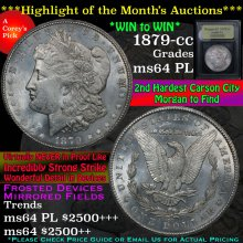 1879-cc Morgan Dollar $1 Graded Choice Unc PL USCG