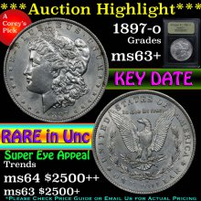 1897-o Morgan Dollar $1 Graded Select+ Unc By USCG