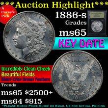 1886-s Morgan Dollar $1 Graded GEM Unc By USCG(fc)