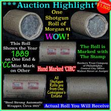 Morgan dollar roll ends 1889 & 'cc'