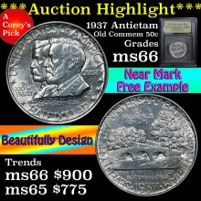 1937 Antietam Old Commem Half Dollar 50c GEM+