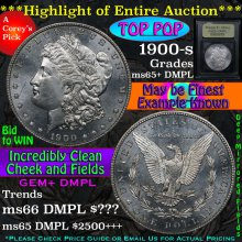 1900-s Morgan Dollar $1 Graded GEM+ DMPL By USCG