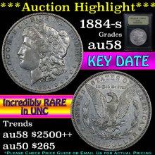 1884-s Morgan Dollar $1 Graded Choice AU/BU Slider